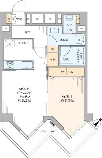 九段フラワーホーム(間取り)