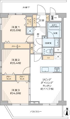 江古田パークマンション(間取り)