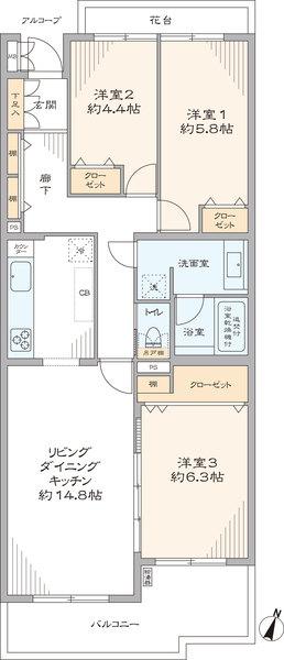 コンフォール東山田5-3号棟