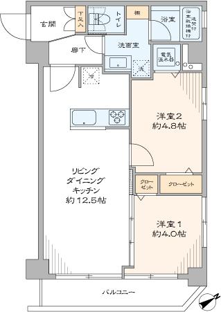 マンション小石川(間取り)