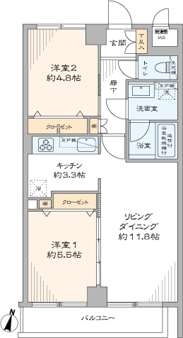 グリーンキャピタル千歳船橋(間取り)