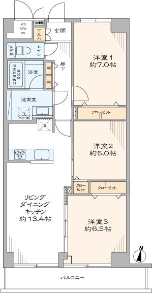 木場サニータウン(間取り)