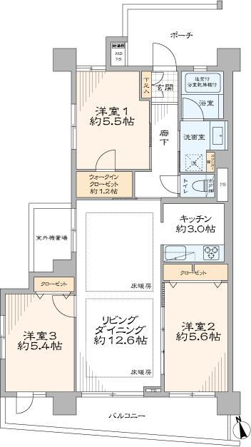 パークハイツ板橋志村(間取り)