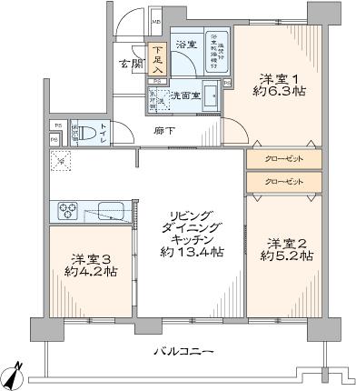 横浜伊勢佐木南パークホームズ(間取り)